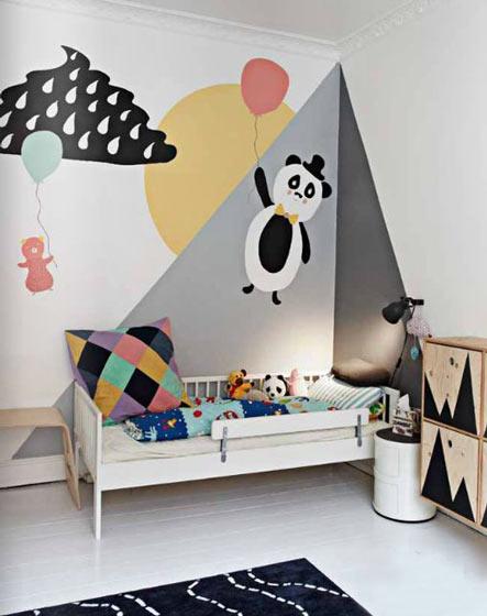 14款创意儿童房手绘墙效果图