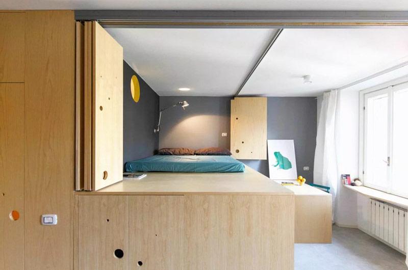 储物功能超强 30平超小户型公寓装修图
