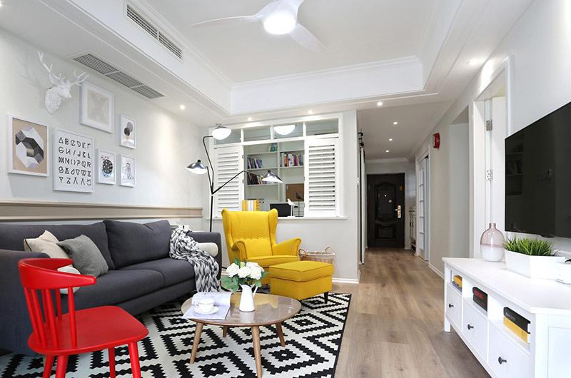 90平北欧风格三室一厅装修效果图 小家更温暖