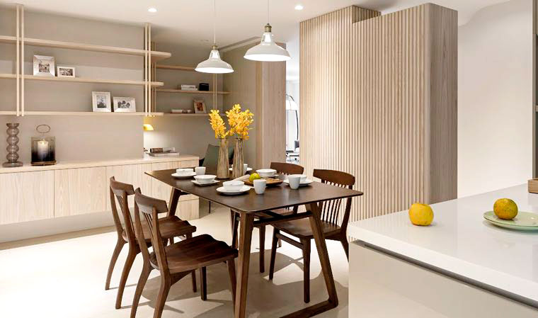 110平日式風格三室兩廳裝修效果圖 空間有序收納