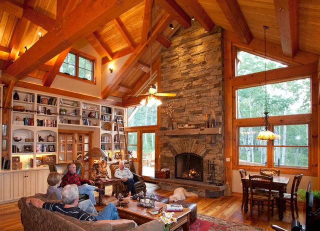 山林里的木屋 美式風格原木風木屋別墅設計