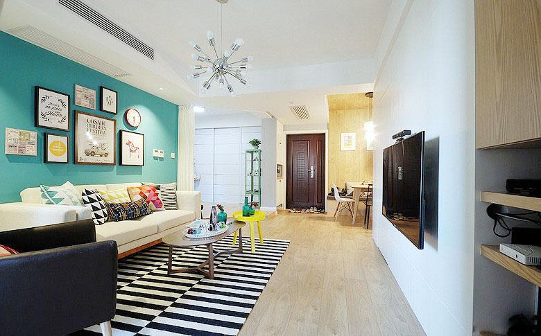 文艺地中海清新范 58平一室一厅小户型装修