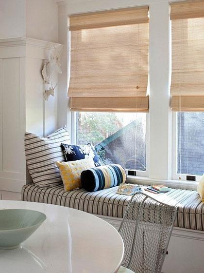 15款美式卷簾窗簾飄窗窗簾圖片效果圖