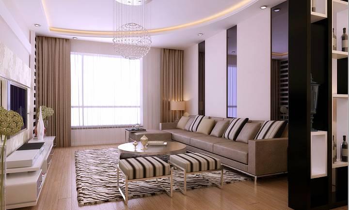 白色窗帘好采光 13款客厅飘窗窗帘设计效果图
