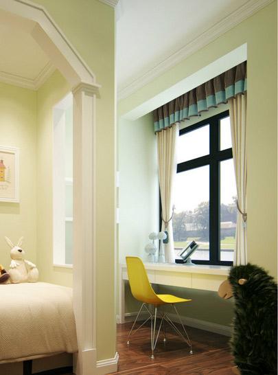 10款撞色飘窗窗帘设计效果图