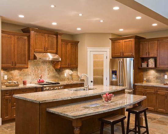 西方风情的厨房 欧式整体橱柜效果图
