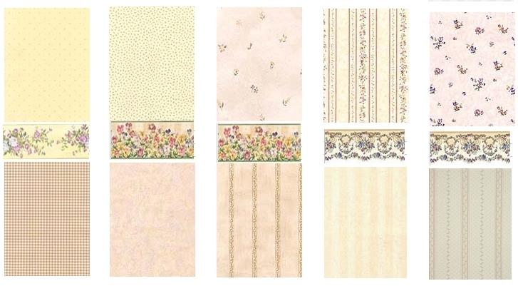 欧式田园小花 客厅卧室壁纸