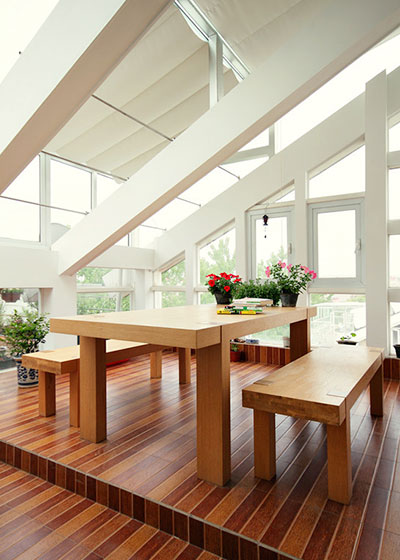 11个斜顶阁楼装修样板房装修效果图8