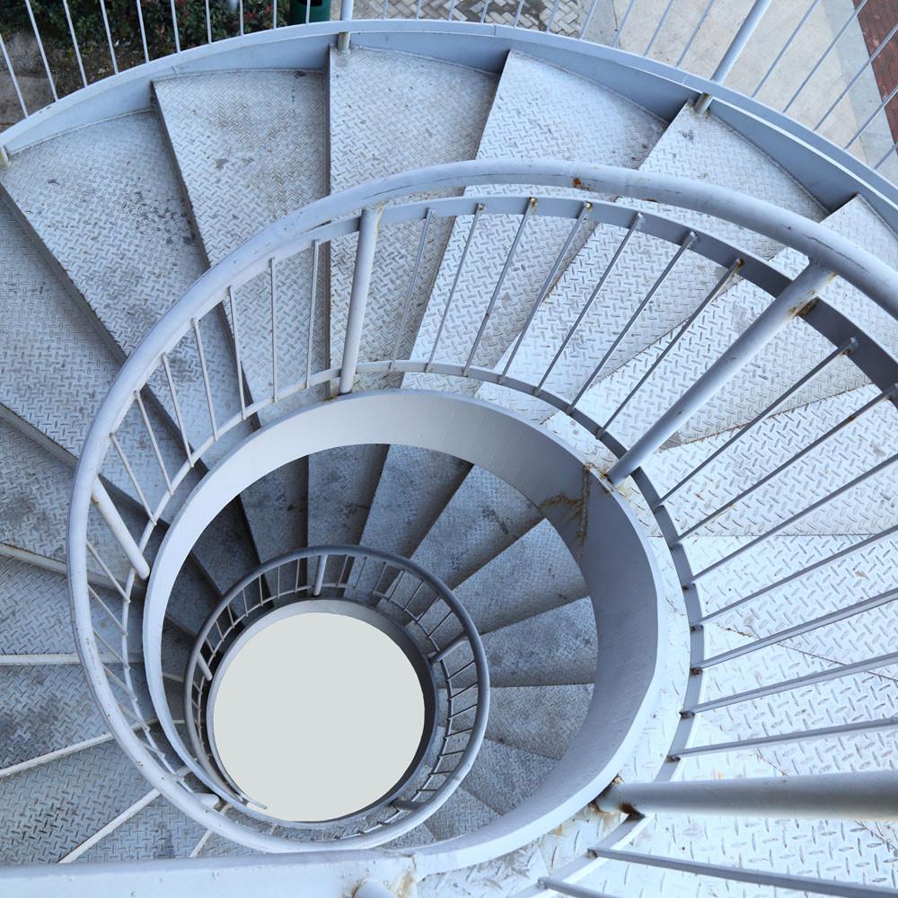 10款简单的旋转楼梯设计效果图3