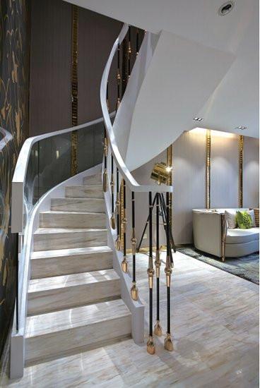 10款简单的旋转楼梯设计效果图4