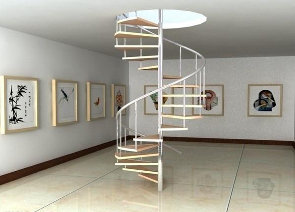 10款简单的旋转楼梯设计效果图9