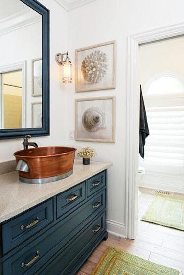 卫生间的清爽色彩 19款地中海风格洗手台