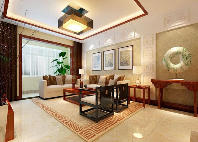 现代中式客厅装修效果图 古典式时尚-中国木业网