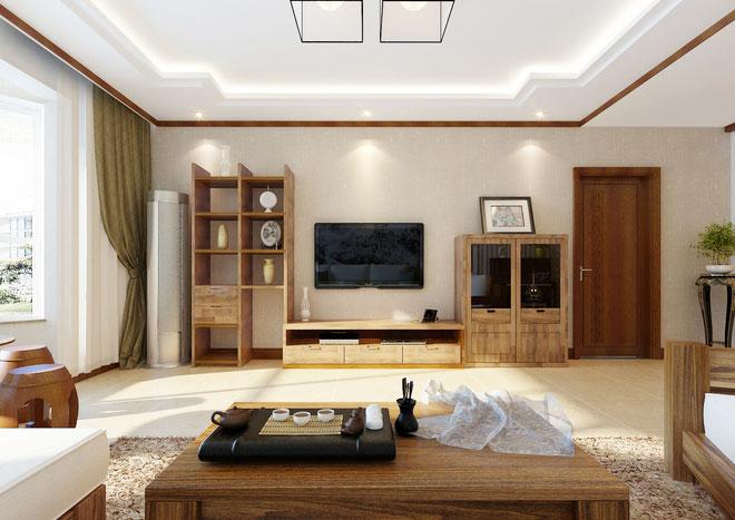 现代中式客厅装修效果图 古典式时尚