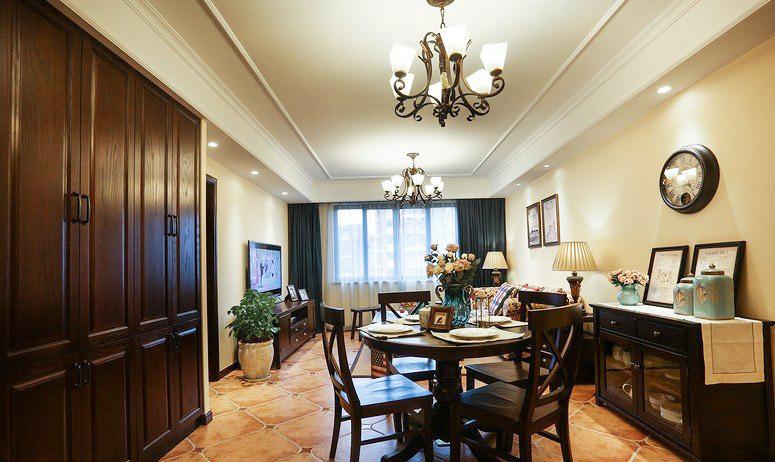 140平米复古风 美式乡村四房装修效果图图片