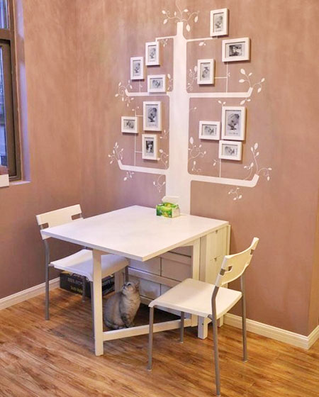 10个小户型餐厅宜家折叠餐桌效果图