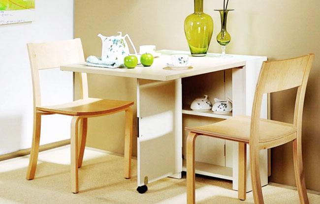 11个小户型折叠餐桌设计图实景3