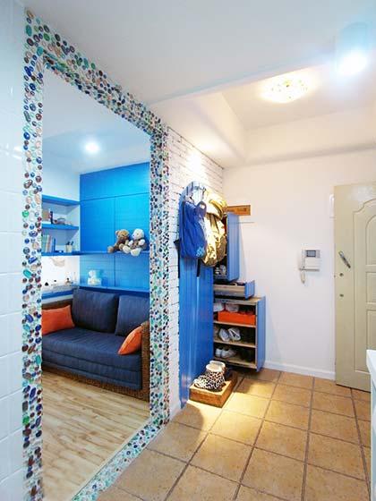 地中海风格小户型单身公寓装修效果图2