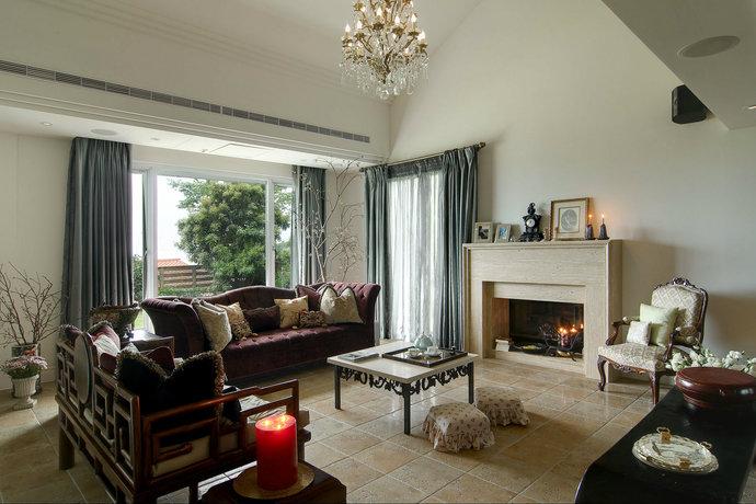 四居室超大户型简欧客厅装修效果图3