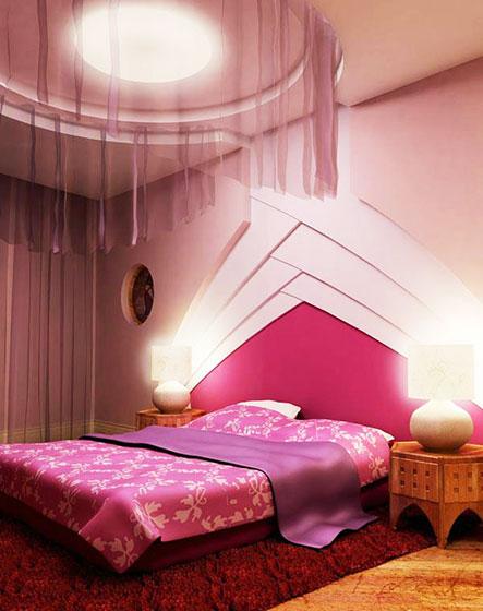 18图秀浪漫风格 粉红色卧室装修图片