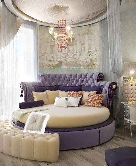 12个舒适圆床卧室装修效果图图片