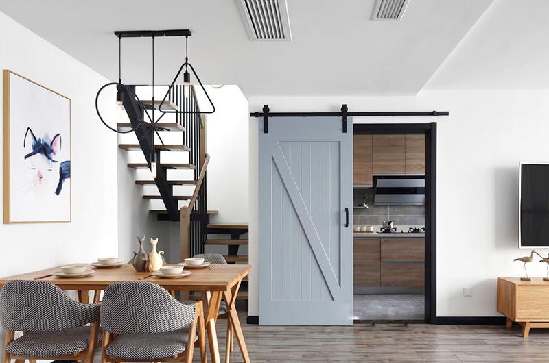170平米北欧风格复式公寓装修效果图图片