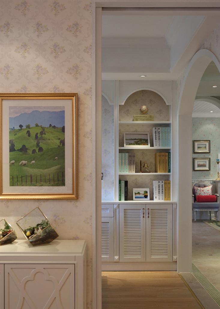 现代田园风格实景图:100平米房屋装修效果图