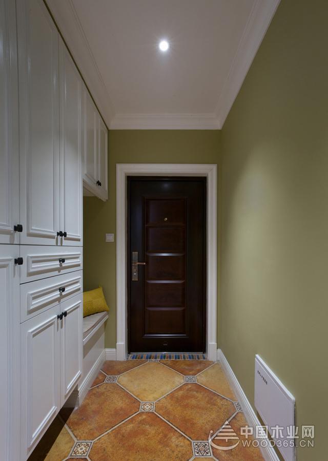森系风格的入户玄关鞋柜设计效果图