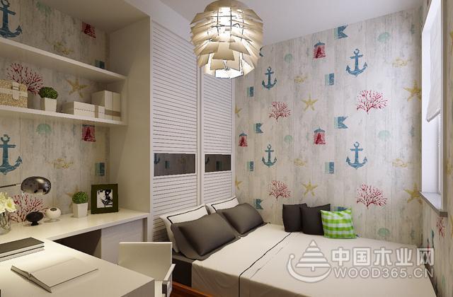 不足五六平方米的小户型儿童房特别适合设计成榻榻米床.