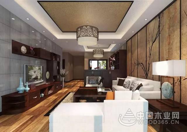 100平米新中式客廳裝修效果圖