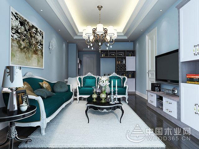 休闲大气的简欧客厅装修效果图