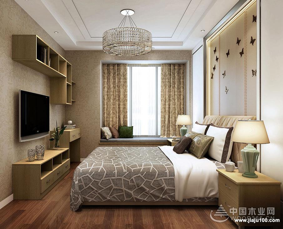 欧式卧室装修效果图样板房分享