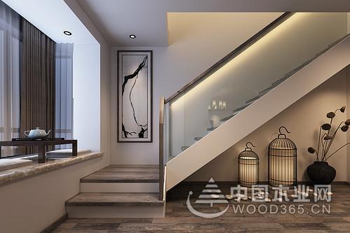 新中式风格复式公寓装修效果图图片