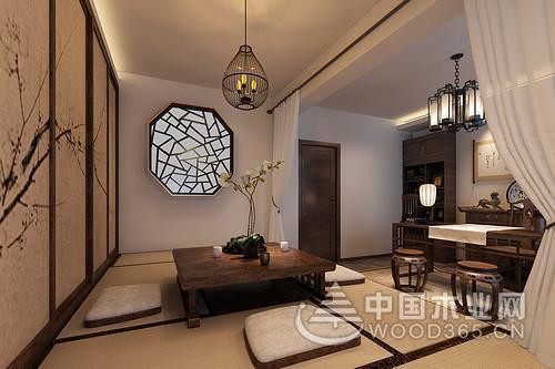 新中式风格复式公寓装修效果图