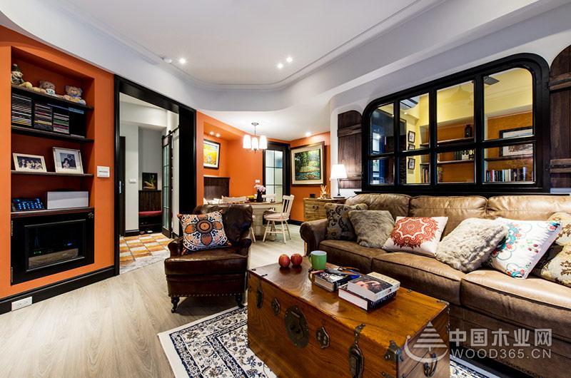 80平米美式乡村风格装修样板房2