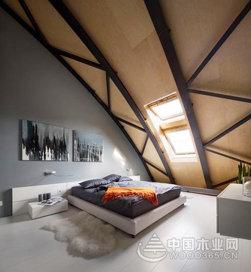 10款斜顶阁楼装修设计图片1