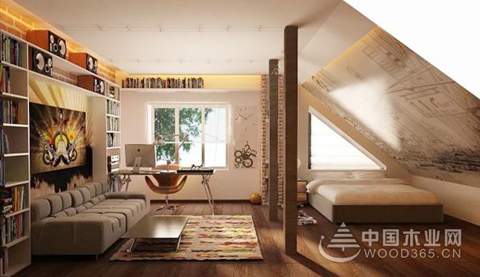 10款斜顶阁楼装修设计图片7