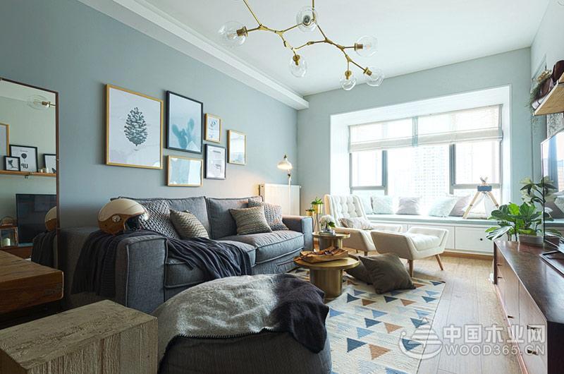 70平米小户型公寓,两房两厅装修效果图片1