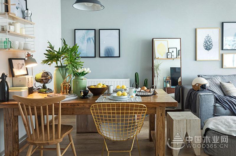 70平米小户型公寓,两房两厅装修效果图片3