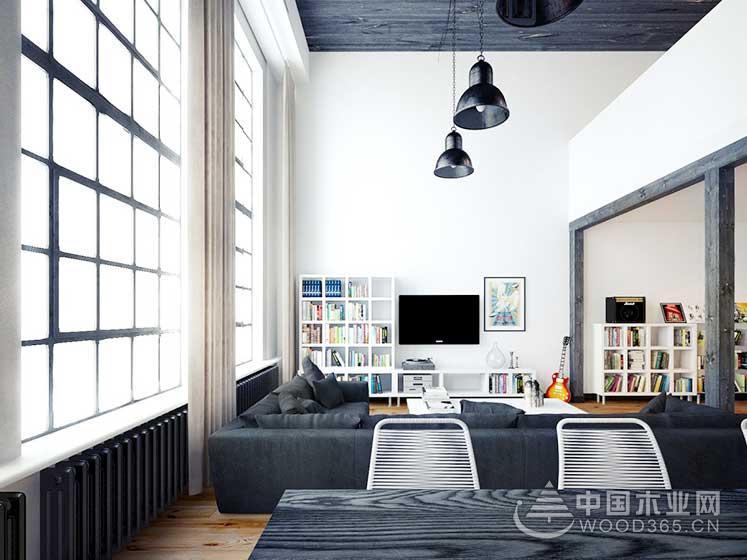 80平方米简欧风复式公寓装修效果图2