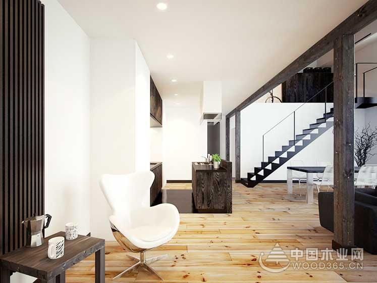 80平方米简欧风复式公寓装修效果图4
