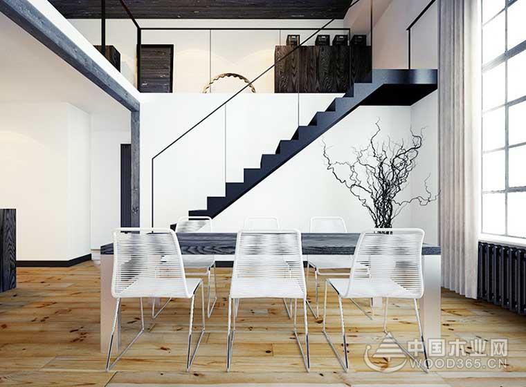 80平方米简欧风复式公寓装修效果图5