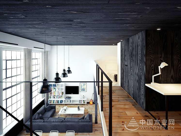 80平方米简欧风复式公寓装修效果图7
