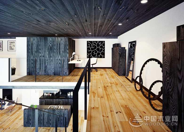 80平方米简欧风复式公寓装修效果图8