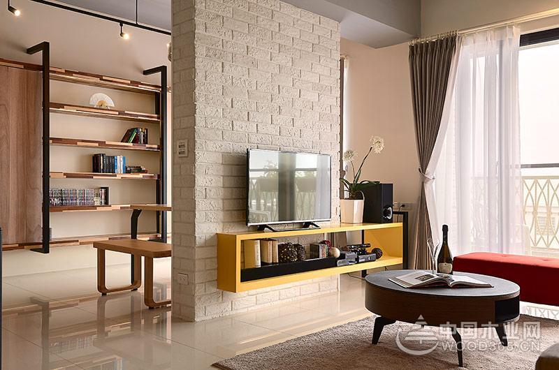 132平北欧风格三室两厅装修效果图片