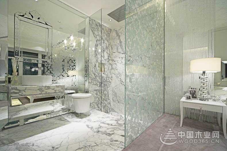 10款卫生间玻璃隔断装修效果图