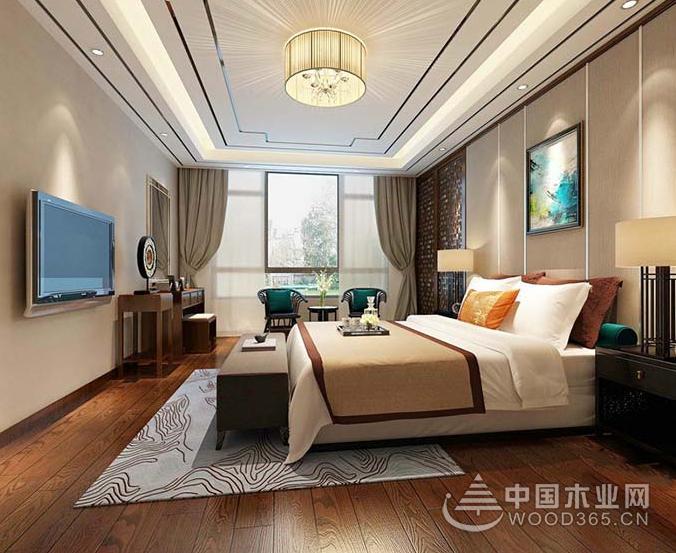 11款中式风格卧室装修效果图片-中国木业网