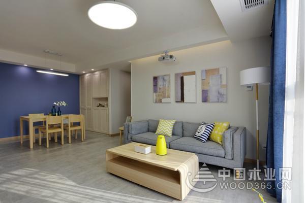 130平米简约风格三室两厅装修效果图片