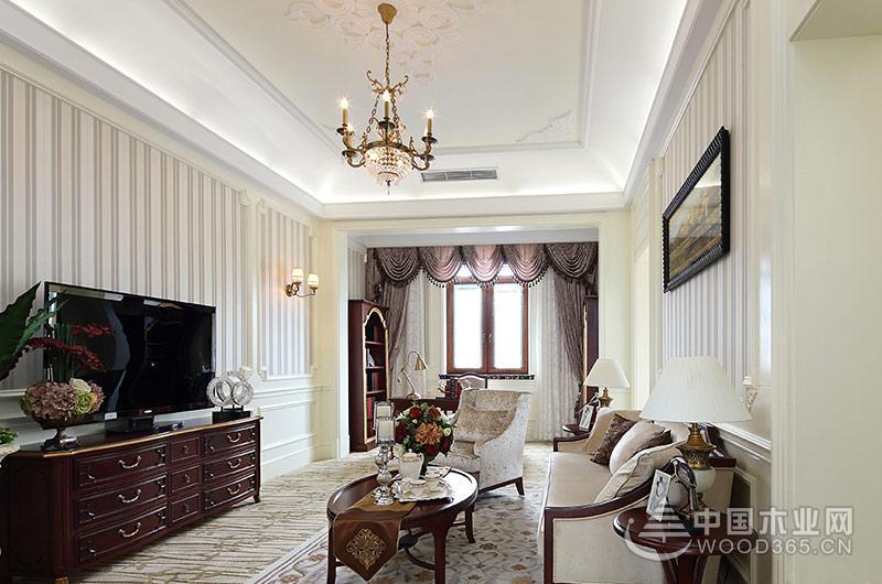 欧式古典风格装修大户型样板房展示图片