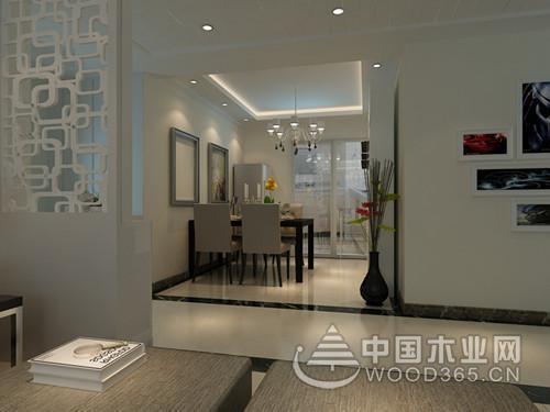 140平米現代簡約風格三室兩廳裝修效果圖